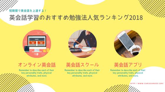 【新しい英会話学習】おすすめ勉強法の人気ランキング~英会話学習プロ!